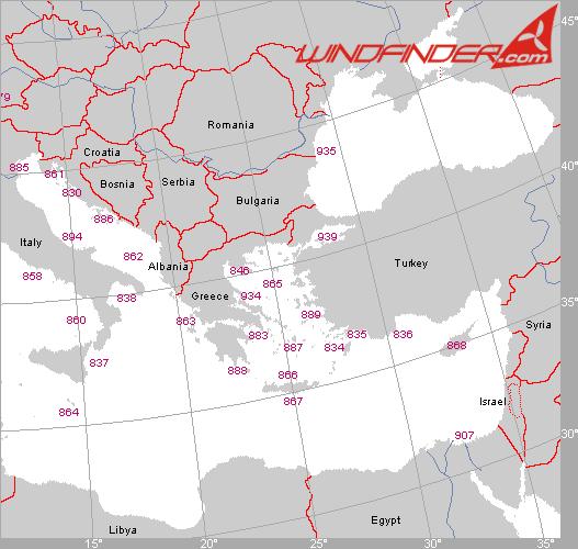 Segelwetterregionen Southeast-Europa