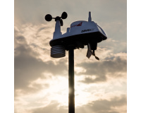 Closeup of mounted weather station
